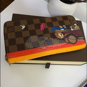Louis Vuitton Limited edition Damier Zippy wallet